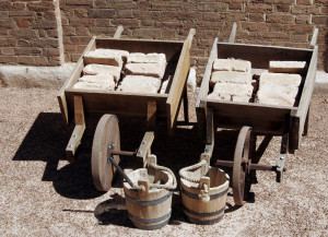 old wheelbarrows